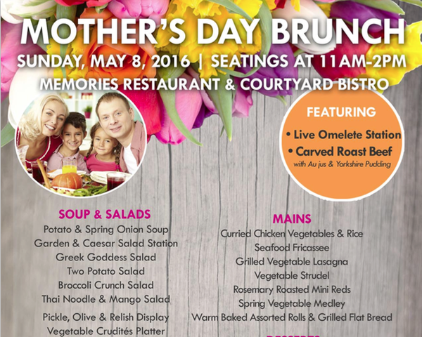 Mother's Day Brunch – A Day To Say Thank You