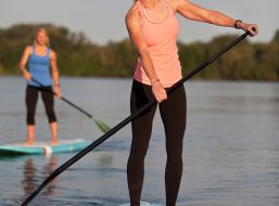 Stand Up Paddle Boarding At Living Water Marina