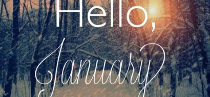 Image Of Winter Forest With Hello January Text